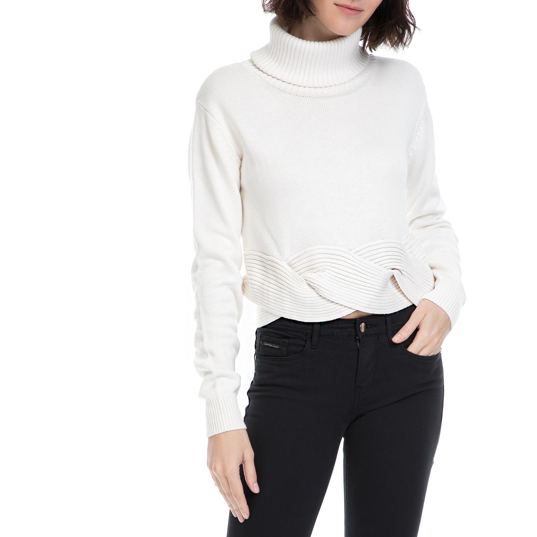 GUESS - Γυναικείο πουλόβερ ASIA GUESS λευκό