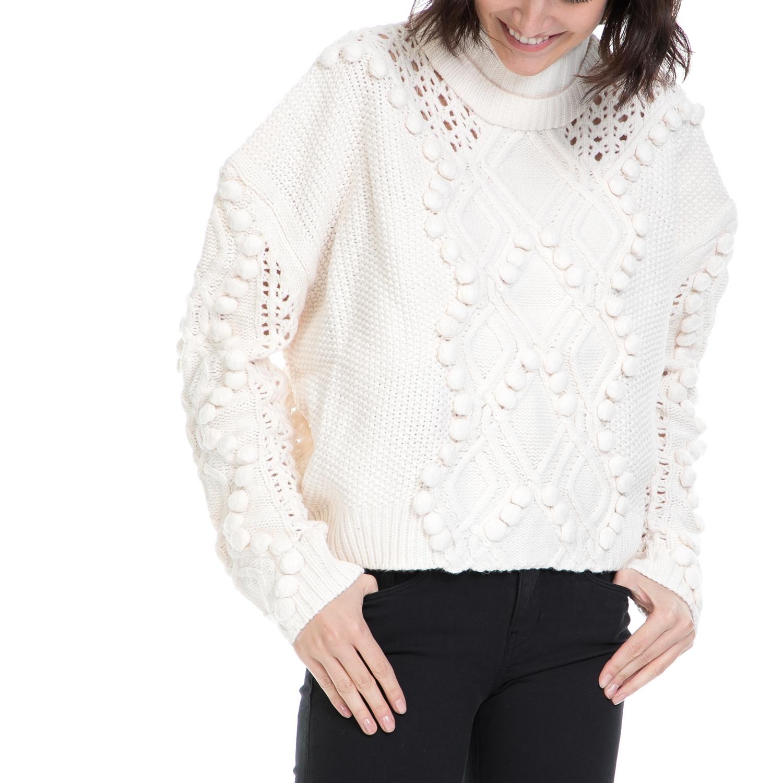 GUESS - Γυναικείο πουλόβερ VANDA λευκό