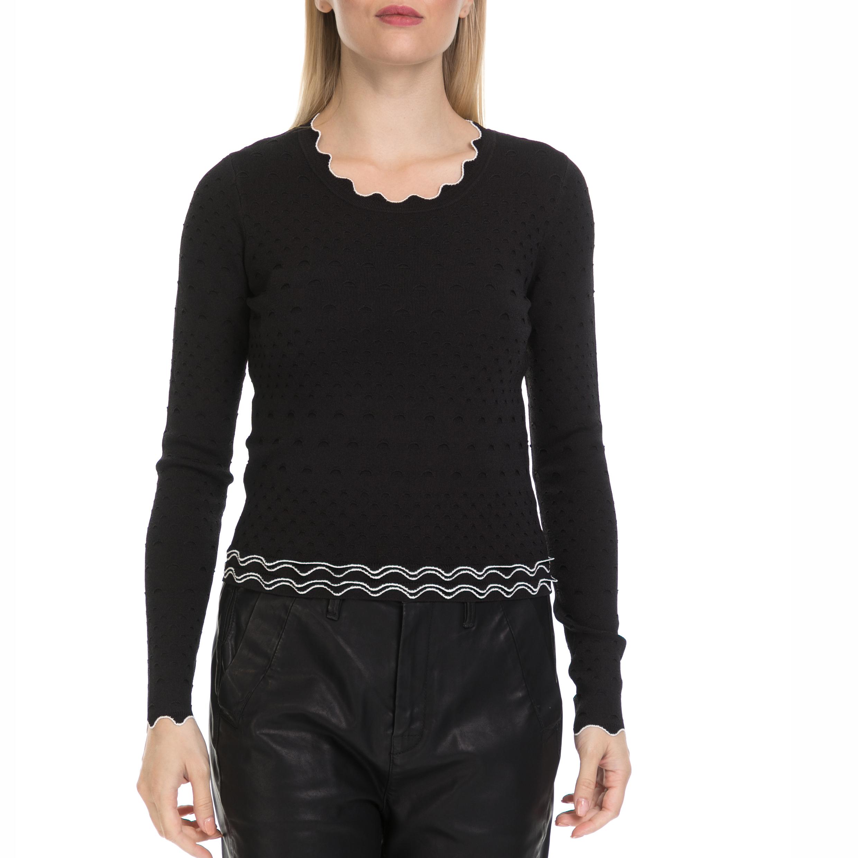 GUESS - Γυναικείο πουλόβερ NINA GUESS μαύρο γυναικεία ρούχα πλεκτά ζακέτες πουλόβερ