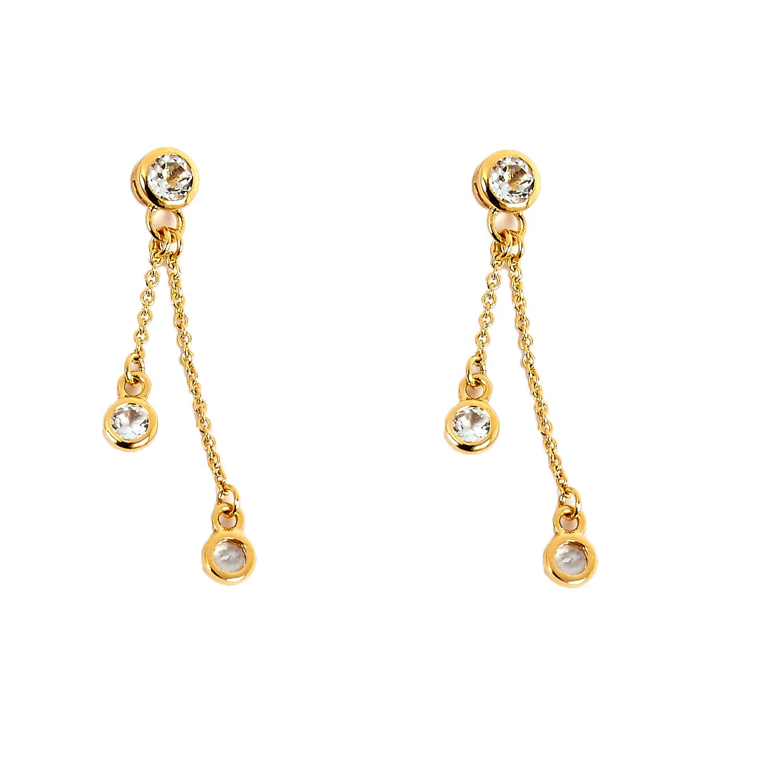 LINKS OF LONDON - Ασημένια επίχρυσα σκουλαρίκια Links of London Bella γυναικεία αξεσουάρ κοσμήματα σκουλαρίκια
