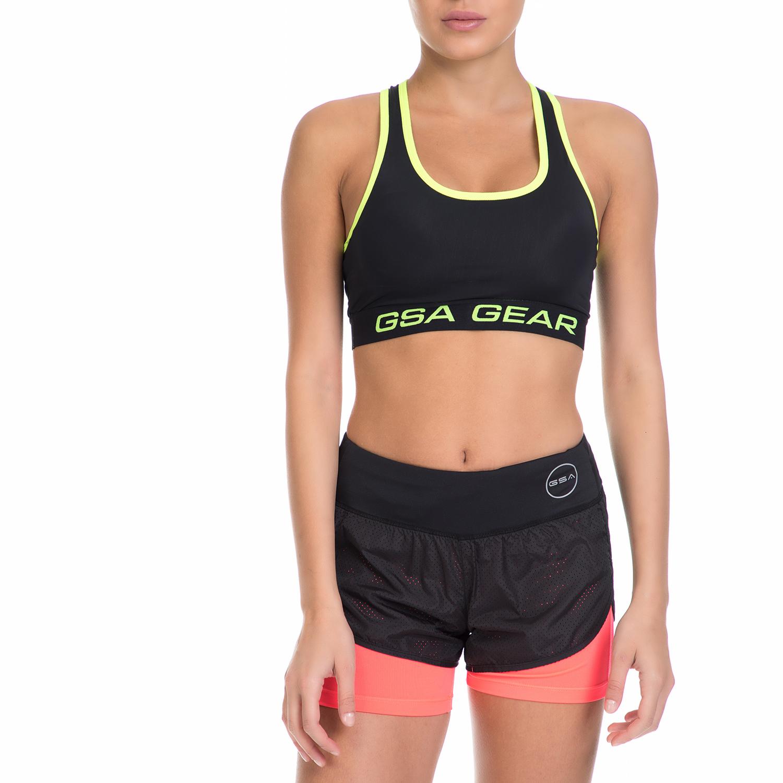 GSA – Γυναικείο αθλητικό μπουστάκι GSA COMPRESSION RACERBACK BRA μαύρο