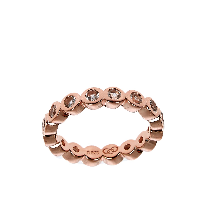 LINKS OF LONDON - Ασημένιο δαχτυλίδι Links of London Bella ροζ χρυσό γυναικεία αξεσουάρ κοσμήματα δαχτυλίδια