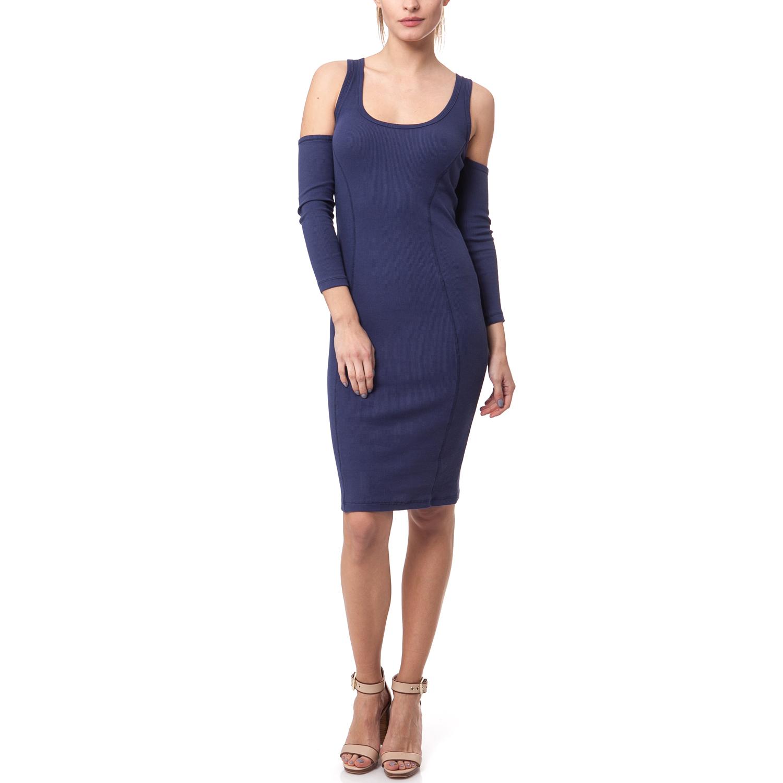 MYMOO - Γυναικείο φόρεμα MYMOO μπλε γυναικεία ρούχα φορέματα μέχρι το γόνατο