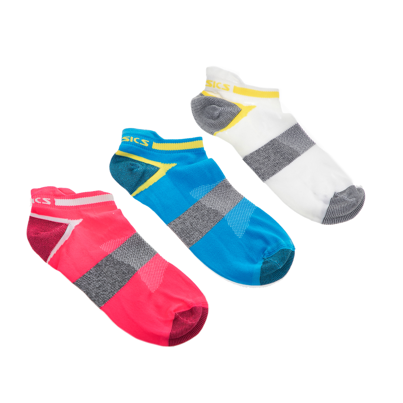 ASICS - Σετ κάλτσες 3 τμχ ASICS ροζ-λευκές-μπλε γυναικεία αξεσουάρ κάλτσες