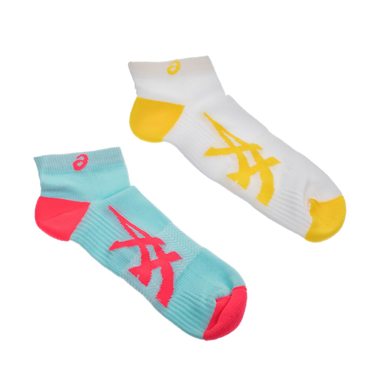 ASICS - Σετ κάλτσες 2 τμχ ASICS λευκές-γαλάζιες γυναικεία αξεσουάρ κάλτσες