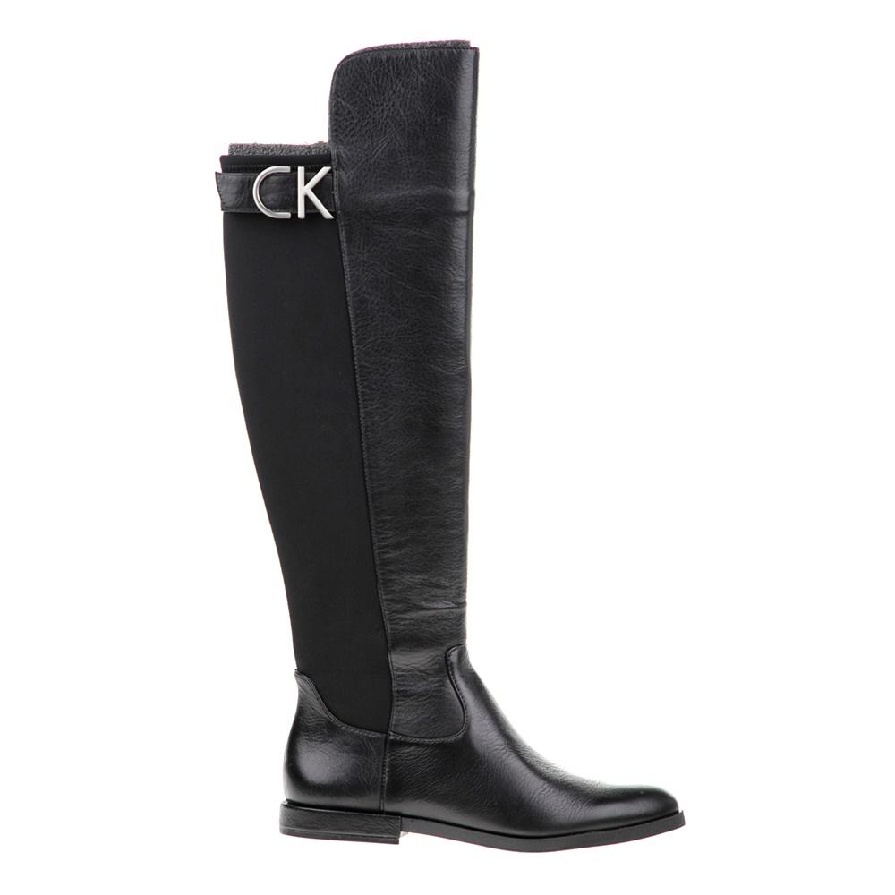 CALVIN KLEIN JEANS - Γυναικείες μπότες CALVIN KLEIN JEANS PILAR μαύρες γυναικεία παπούτσια μπότες μποτάκια μπότες