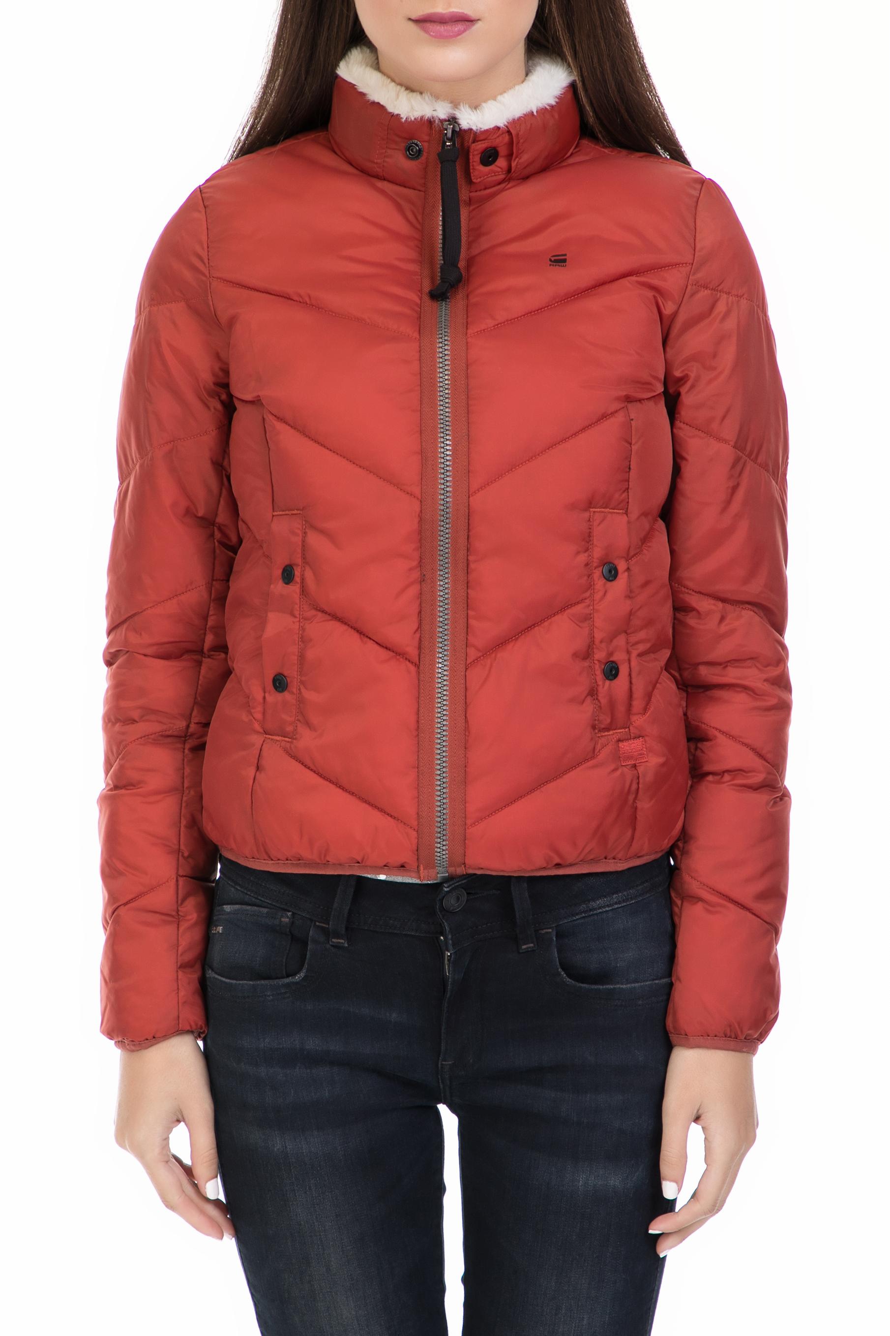 G-STAR – Γυναικείο μπουφάν G-STAR RAW κόκκινο 74c6f44f0d3