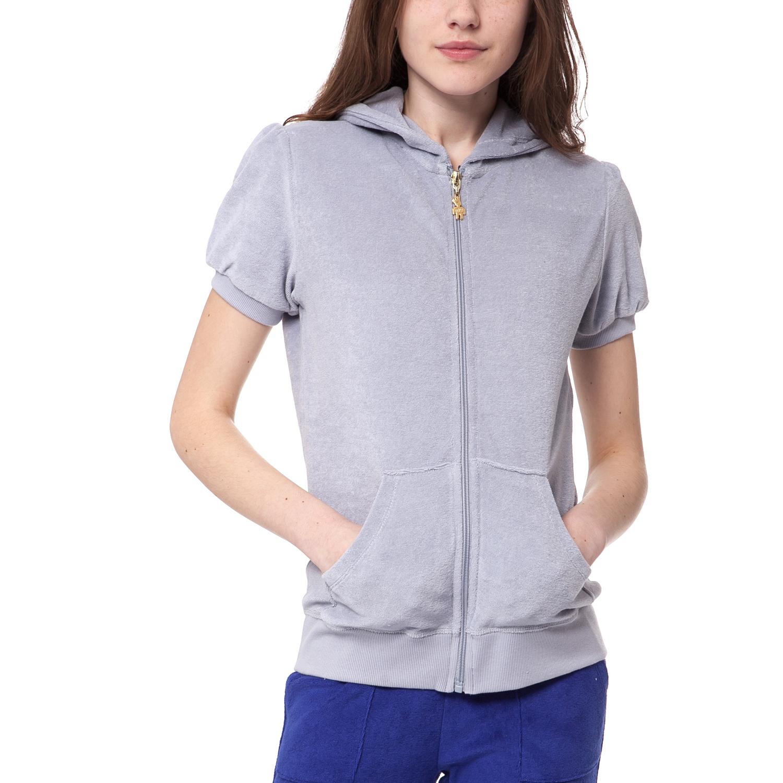 MYMOO - Γυναικεία ζακέτα MYMOO γκρι γυναικεία ρούχα φούτερ ζακέτες