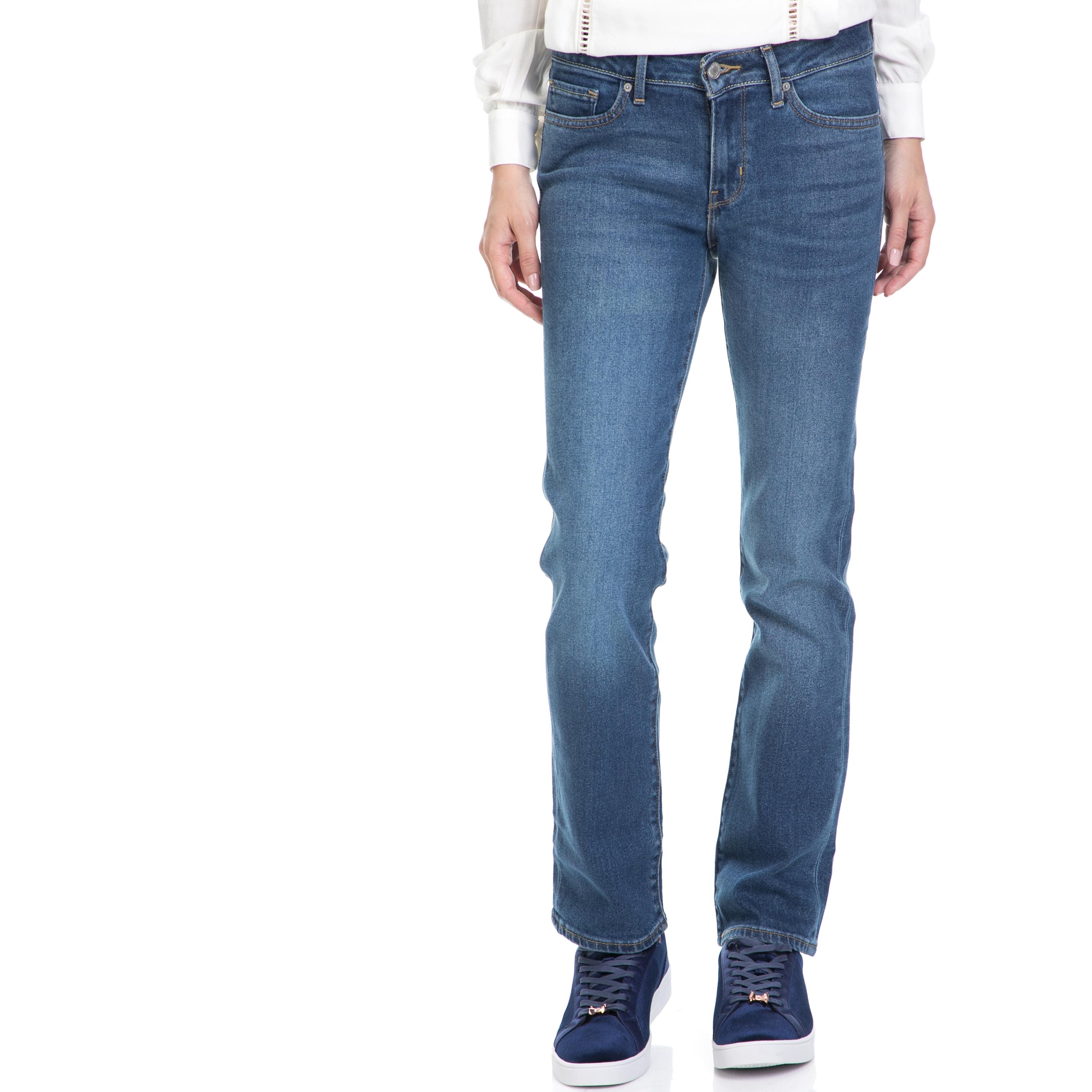 LEVIS – Γυναικείο τζιν παντελόνι 714 STRAIGHT AIRWAVES LEVI'S μπλε