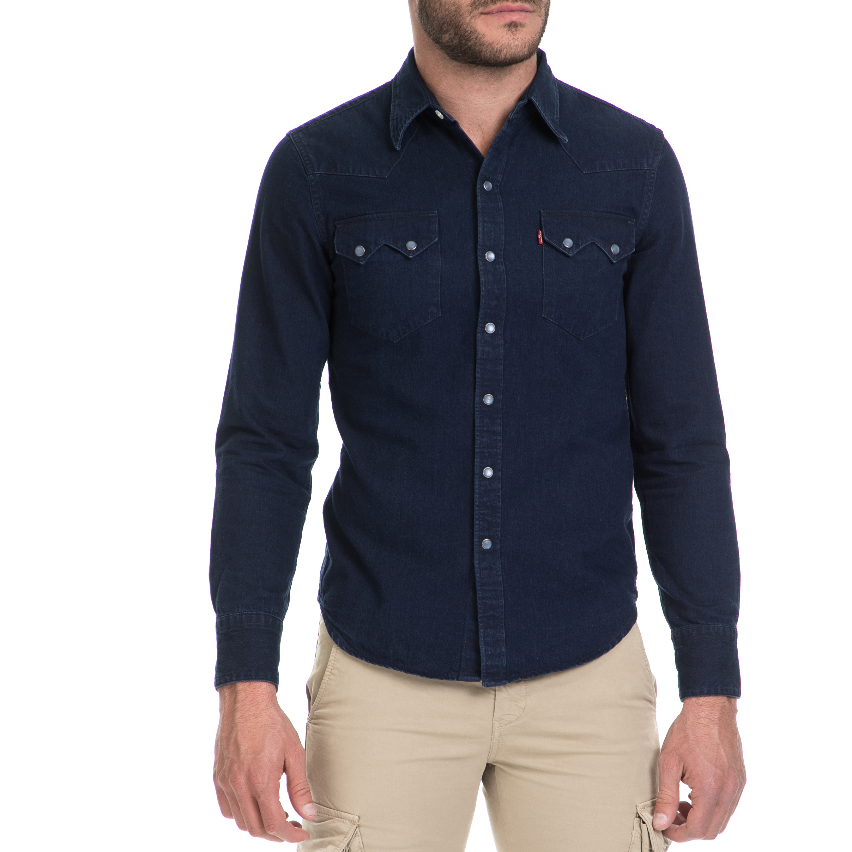 LEVIS – Ανδρικό τζιν πουκάμισο SAWTOOTH LEVI'S μπλε