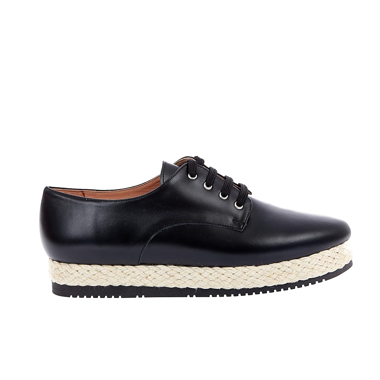 CHANIOTAKIS - Γυναικεία παπούτσια Chaniotakis μαύρα γυναικεία παπούτσια μοκασίνια μπαλαρίνες μοκασίνια