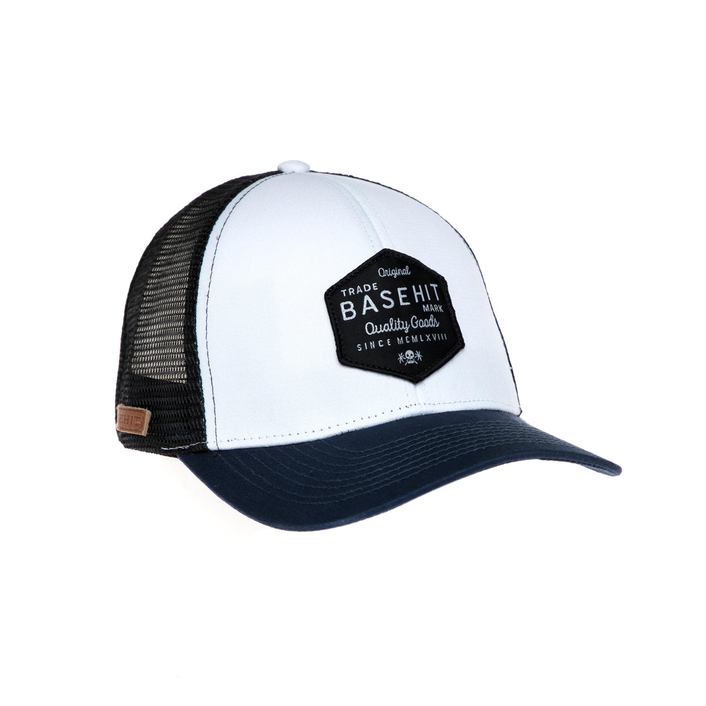 BASEHIT - Καπέλο τζόκεϋ Basehit λευκό-μπλε γυναικεία αξεσουάρ καπέλα αθλητικά