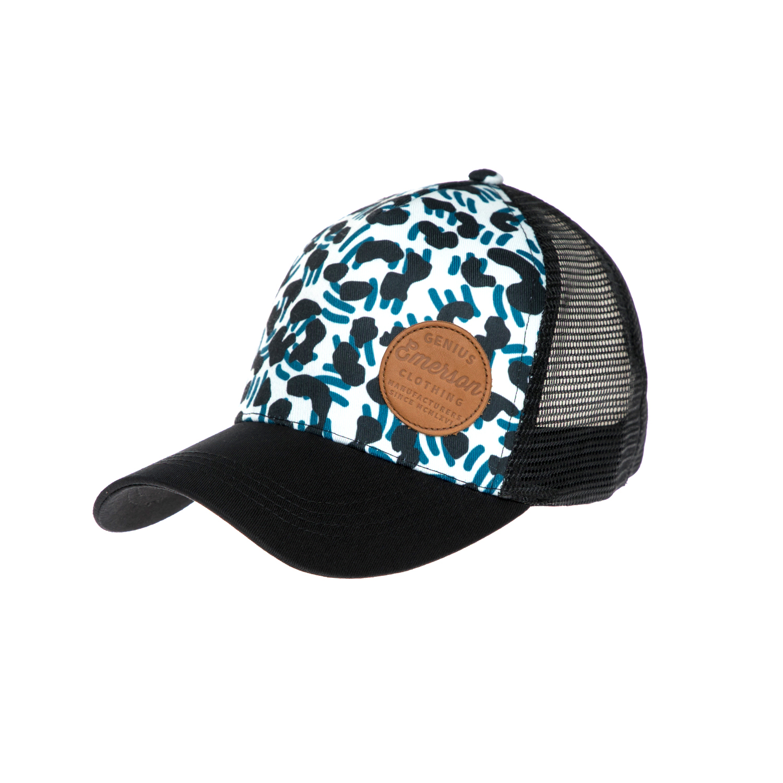 EMERSON - Καπέλο τζόκεϋ Emerson μαύρο-λευκό γυναικεία αξεσουάρ καπέλα αθλητικά