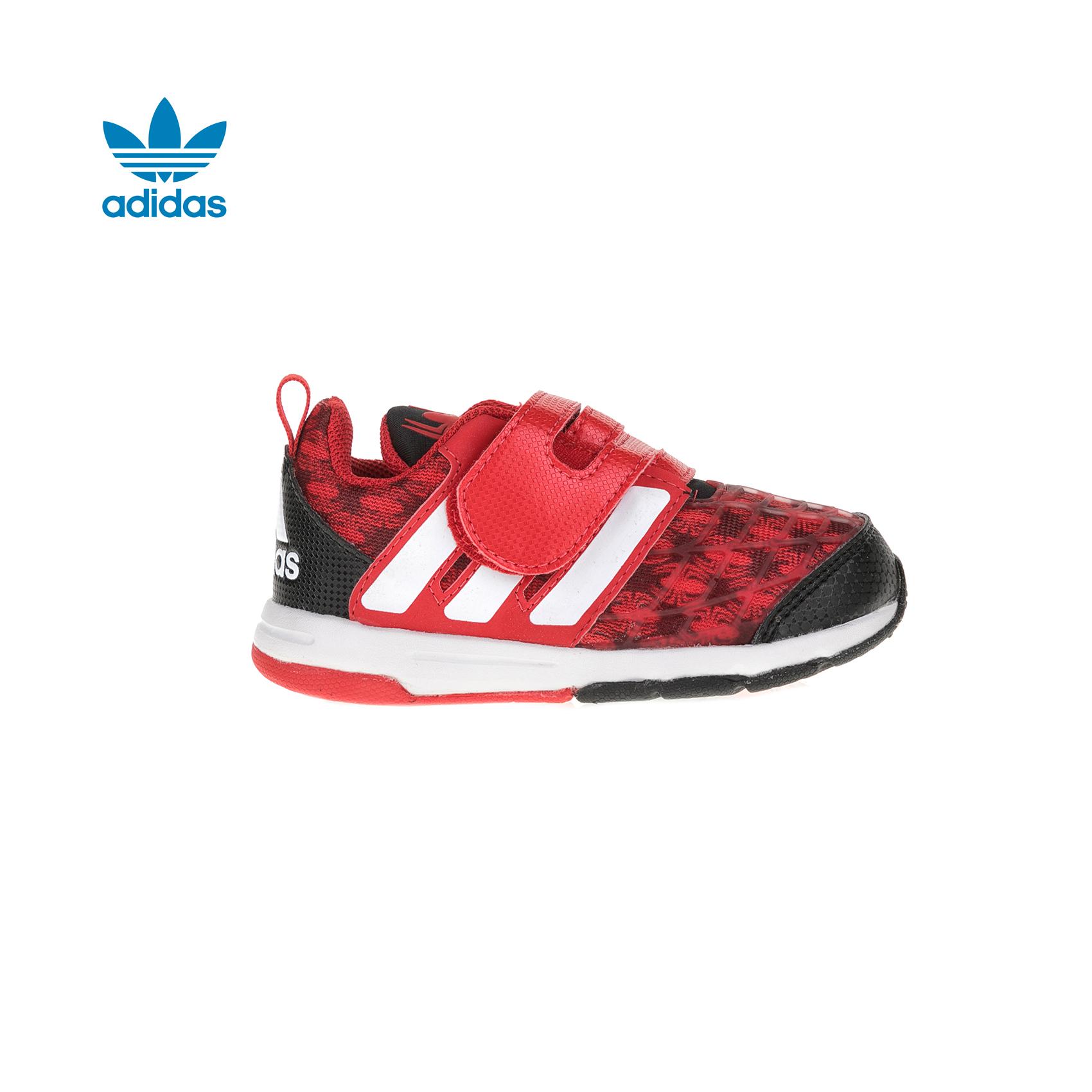 adidas Originals – Βρεφικά παπούτσια adidas Marvel Spider-Man CF I κόκκινα