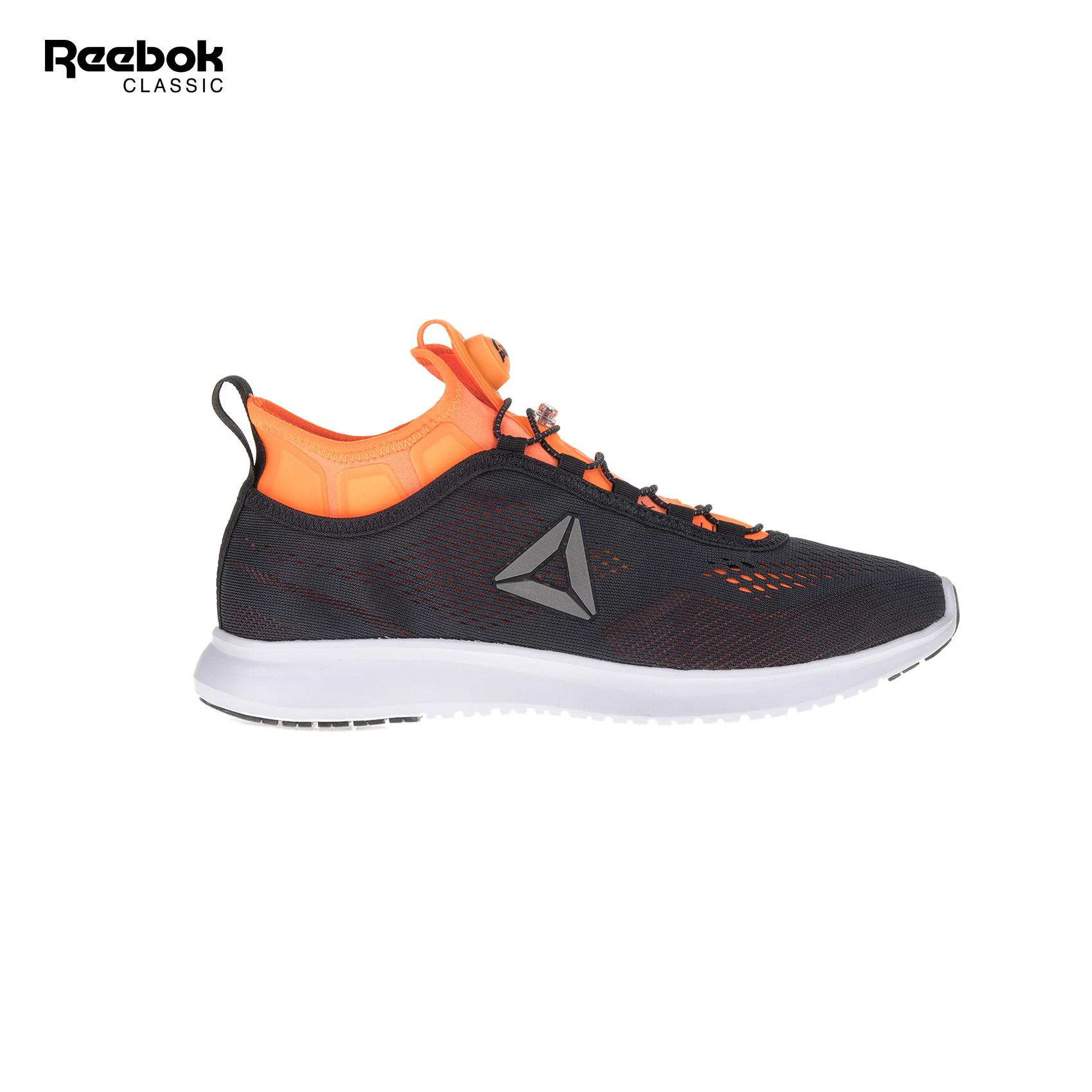 3448603d2df REEBOK CLASSIC - Ανδρικά παπούτσια τρεξίματος REEBOK CLASSICS PUMP PLUS  TECH μαύρα-πορτοκαλί