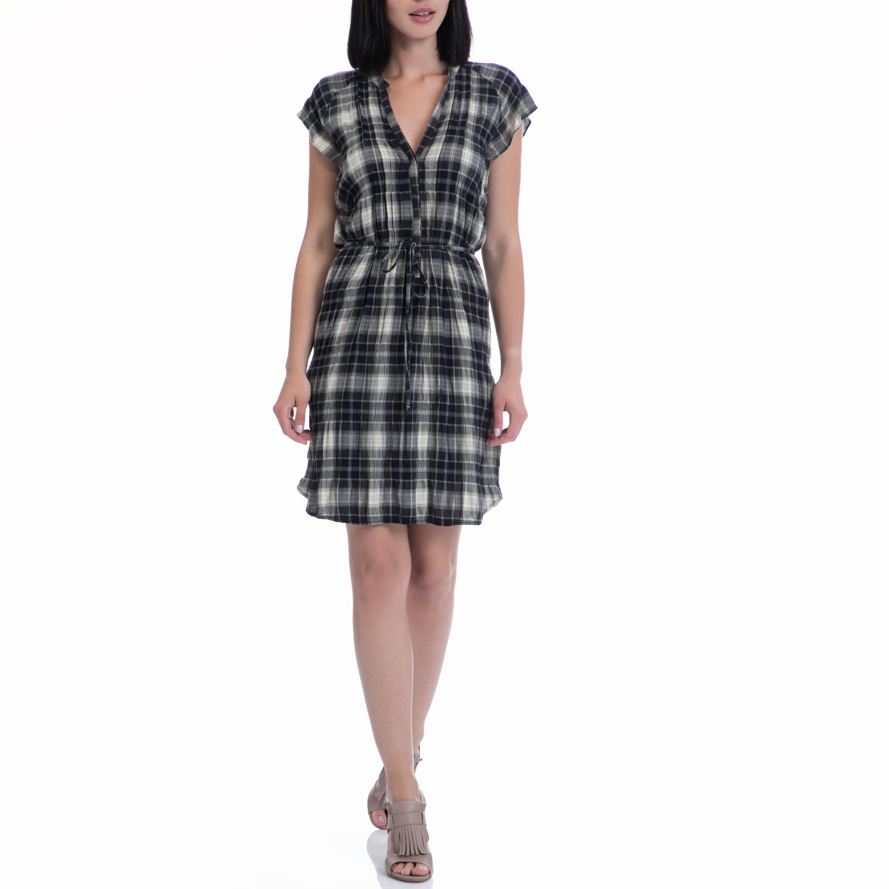 MOTIVI - Φουλάρι MOTIVI μαύρο-γκρι γυναικεία ρούχα φορέματα μίνι