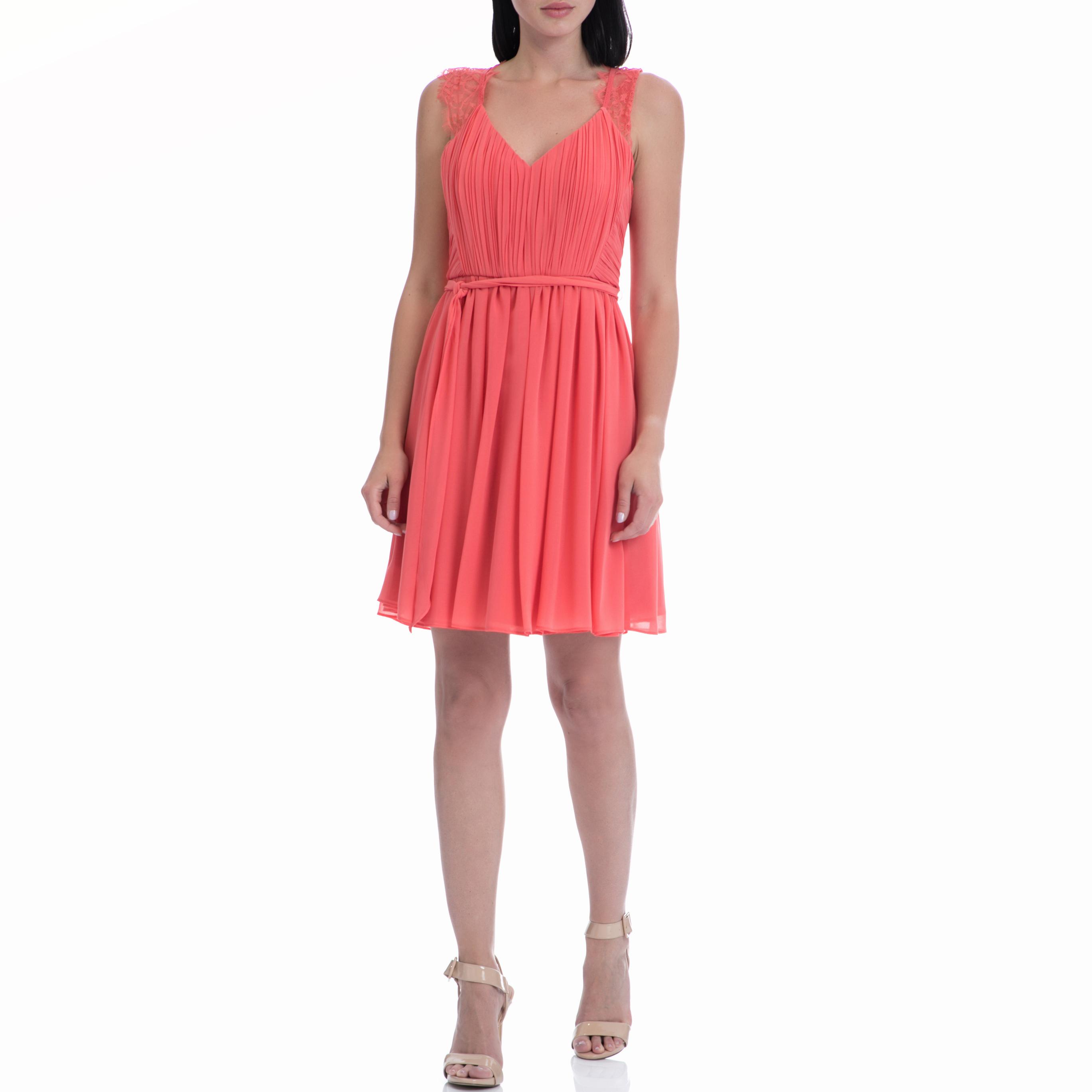 MOTIVI - Φόρεμα MOTIVI κοραλί γυναικεία ρούχα φορέματα μίνι