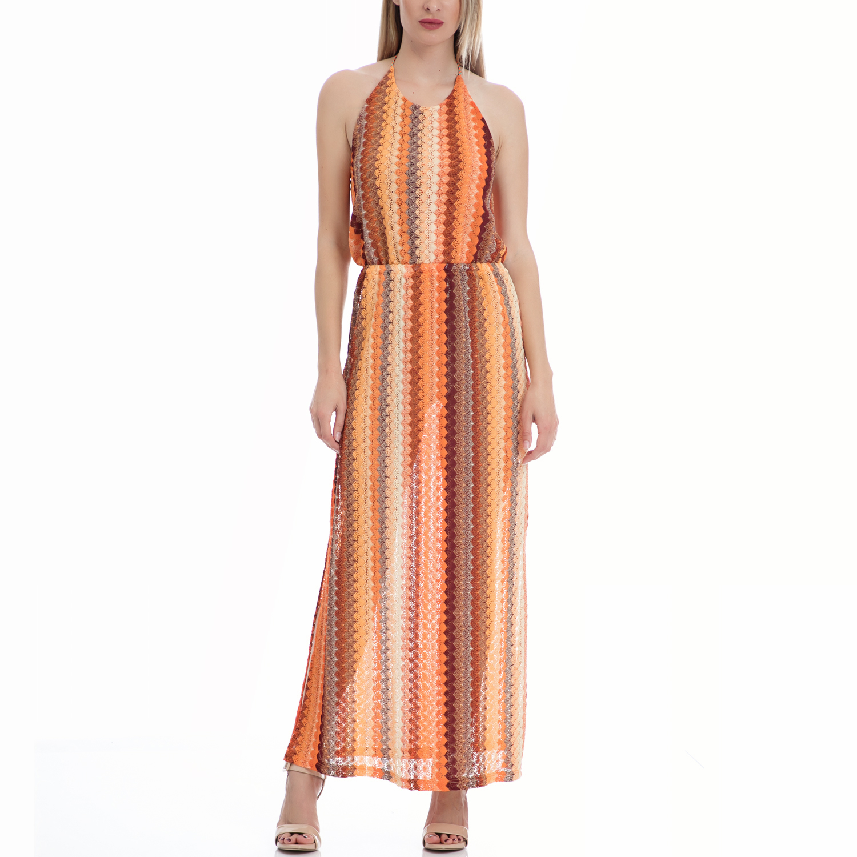 MOTIVI - Γυναικείο φόρεμα MOTIVI πορτοκαλί γυναικεία ρούχα φορέματα μάξι