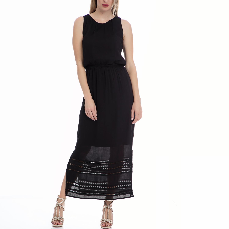 MOTIVI - Γυναικείο φόρεμα MOTIVI μαύρο γυναικεία ρούχα φορέματα μάξι
