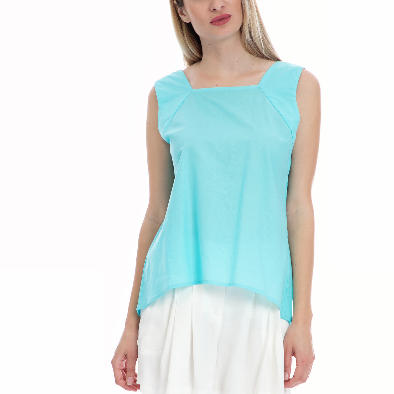 MY TIFFANY - Γυναικεία μπλούζα MY TIFFANY γαλάζια γυναικεία ρούχα μπλούζες τοπ