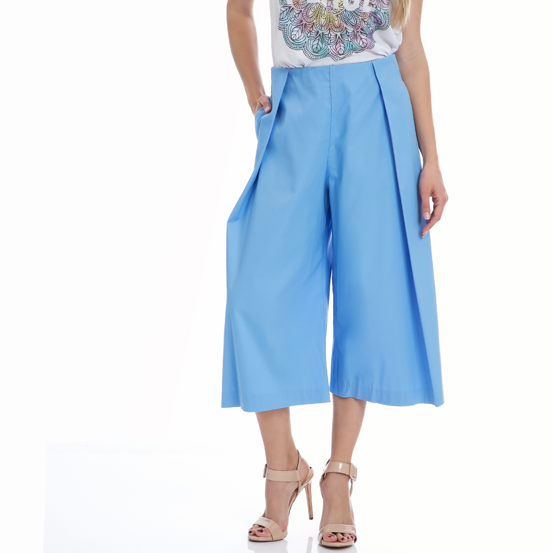 MY TIFFANY - Ζιπ κιλότ MY TIFFANY γαλάζια γυναικεία ρούχα παντελόνια casual