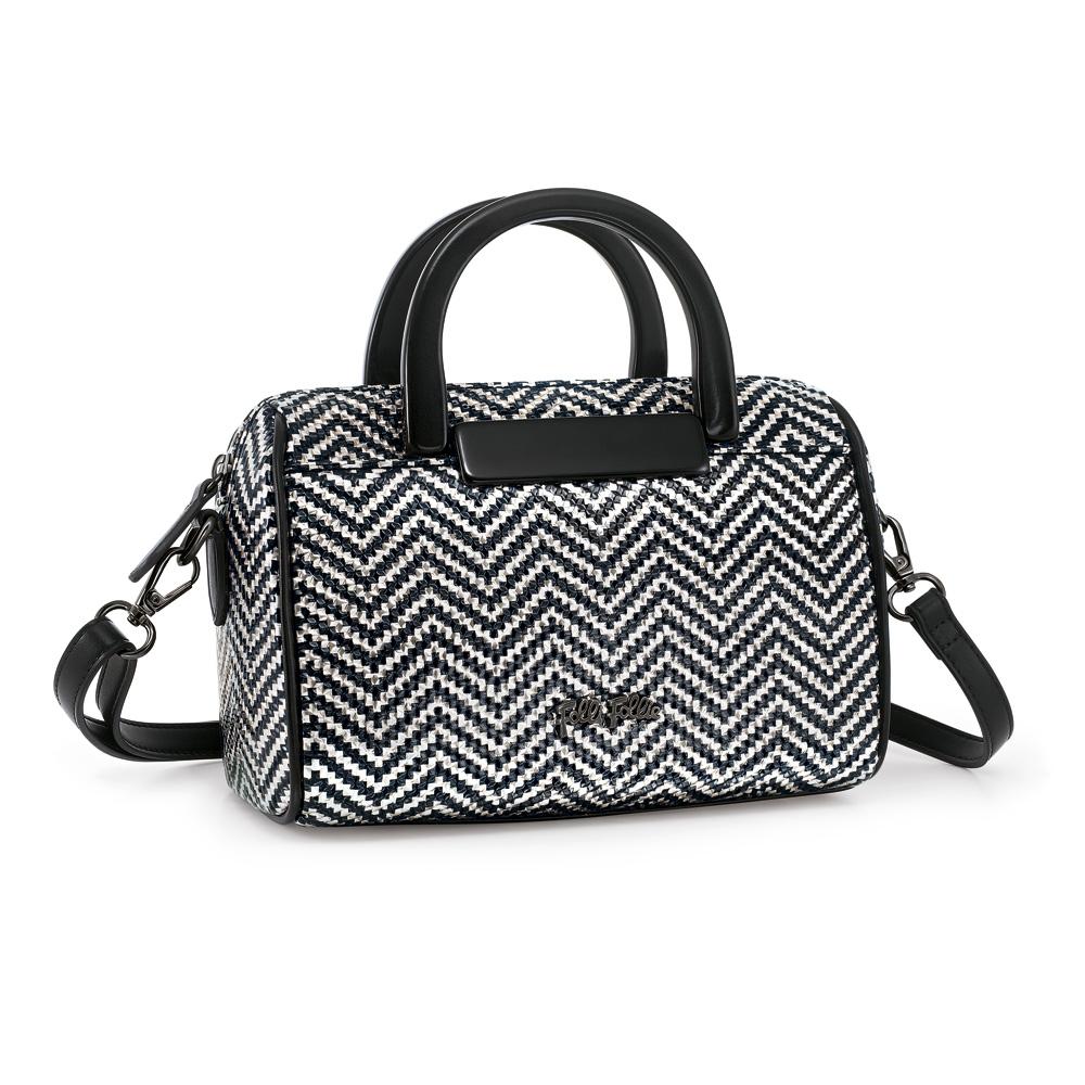 FOLLI FOLLIE – Γυναικεία τσάντα FOLLI FOLLIE άσπρη-μαύρη