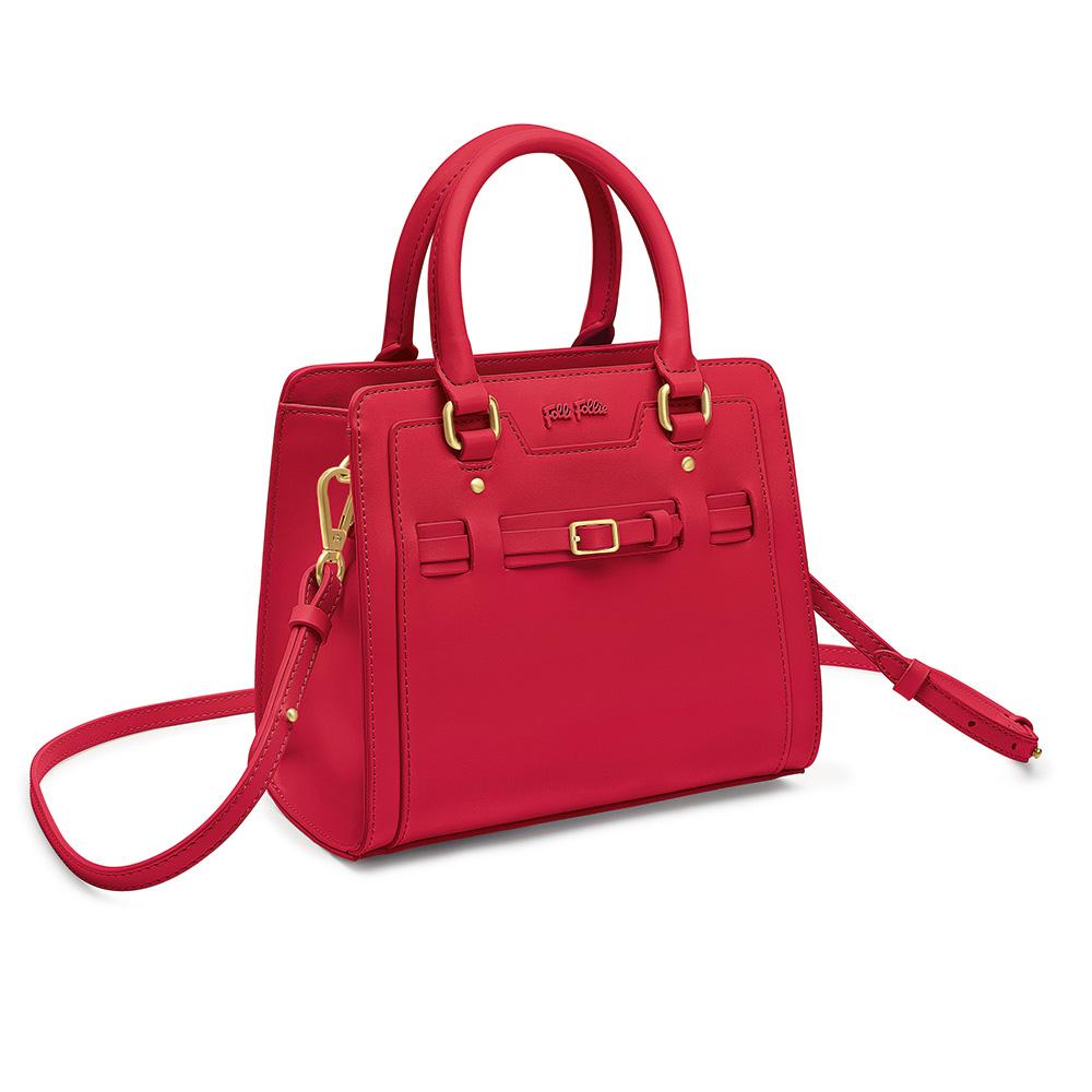a5a2c88f360 FOLLI FOLLIE - Γυναικεία τσάντα χειρός FOLLI FOLLIE κόκκινη