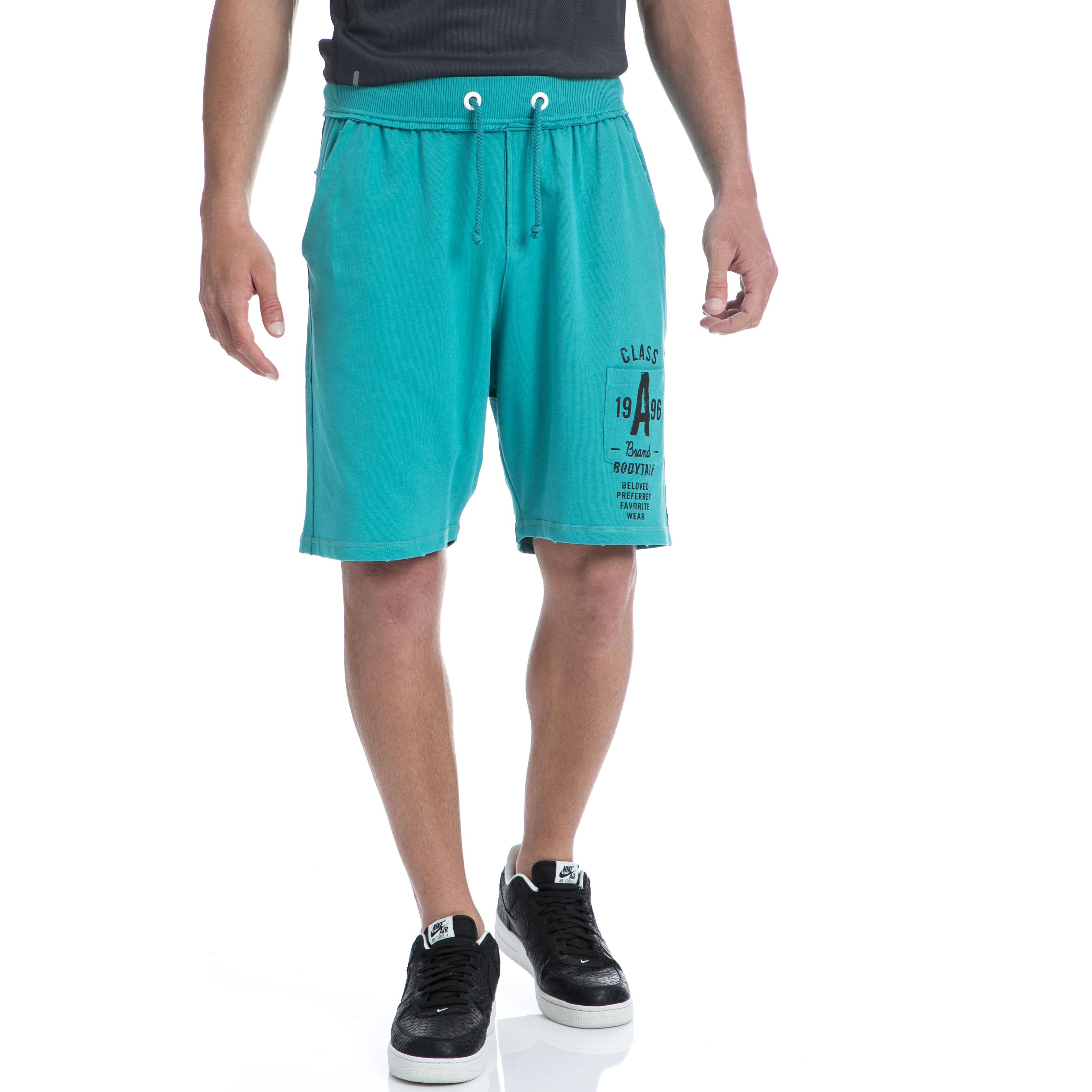 BODYTALK - Ανδρική βερμούδα BODYTALK πράσινη ανδρικά ρούχα σορτς βερμούδες αθλητικά