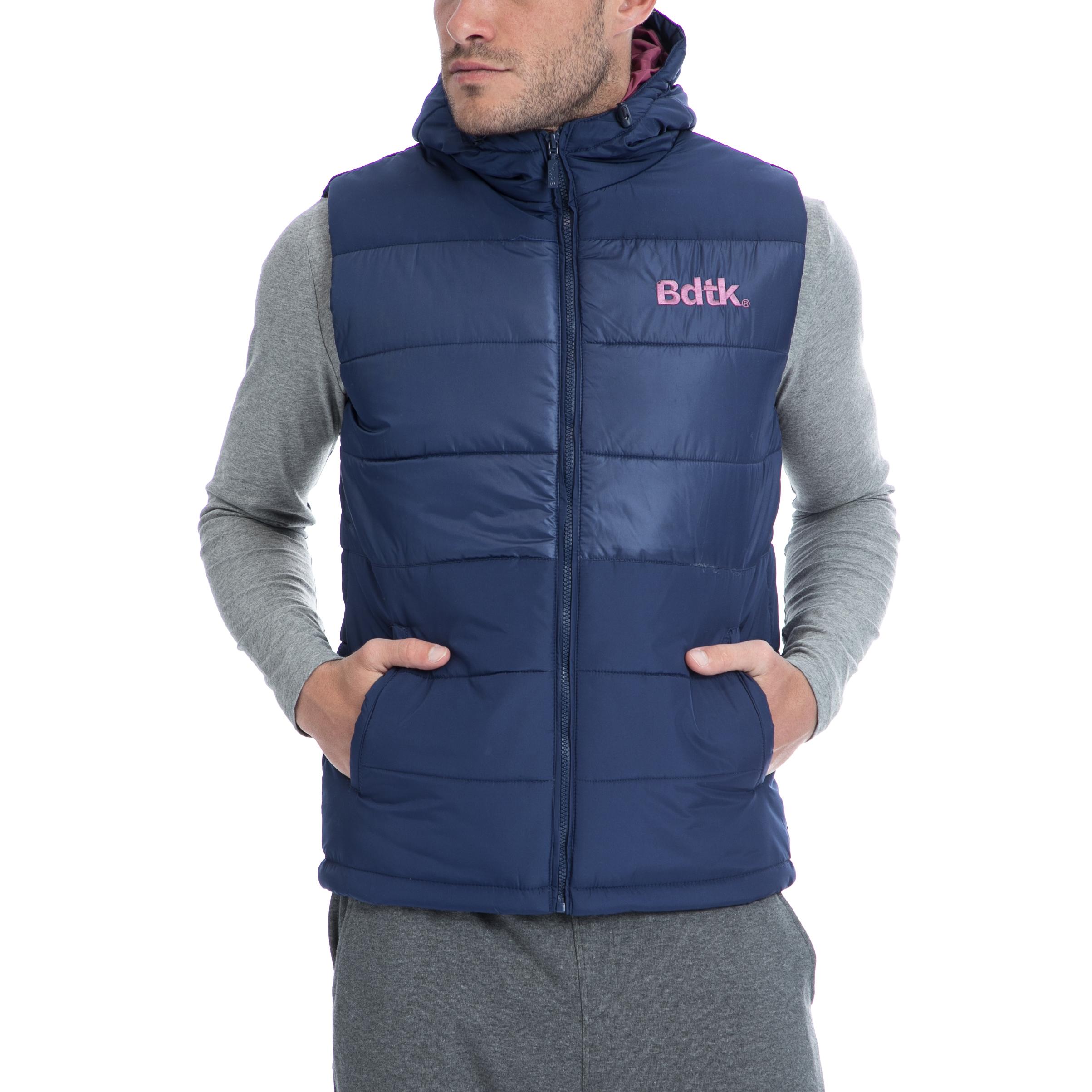 BODYTALK - Ανδρικό αμάνικο μπουφάν BODYTALK μπλε ανδρικά ρούχα πανωφόρια αμάνικα μπουφάν