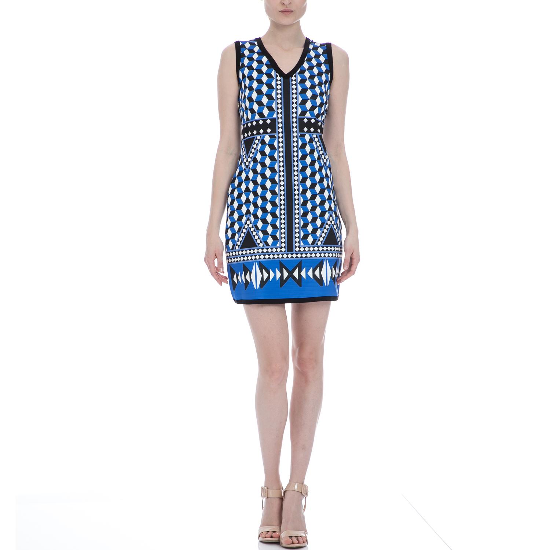 BAYA - Φόρεμα BAYA μαύρο-μπλε γυναικεία ρούχα φορέματα μίνι