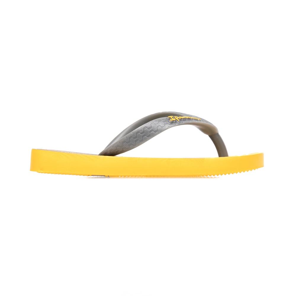 IPANEMA - Παιδικές σαγιονάρες IPANEMA γκρι-κίτρινες παιδικά boys παπούτσια σαγιονάρες