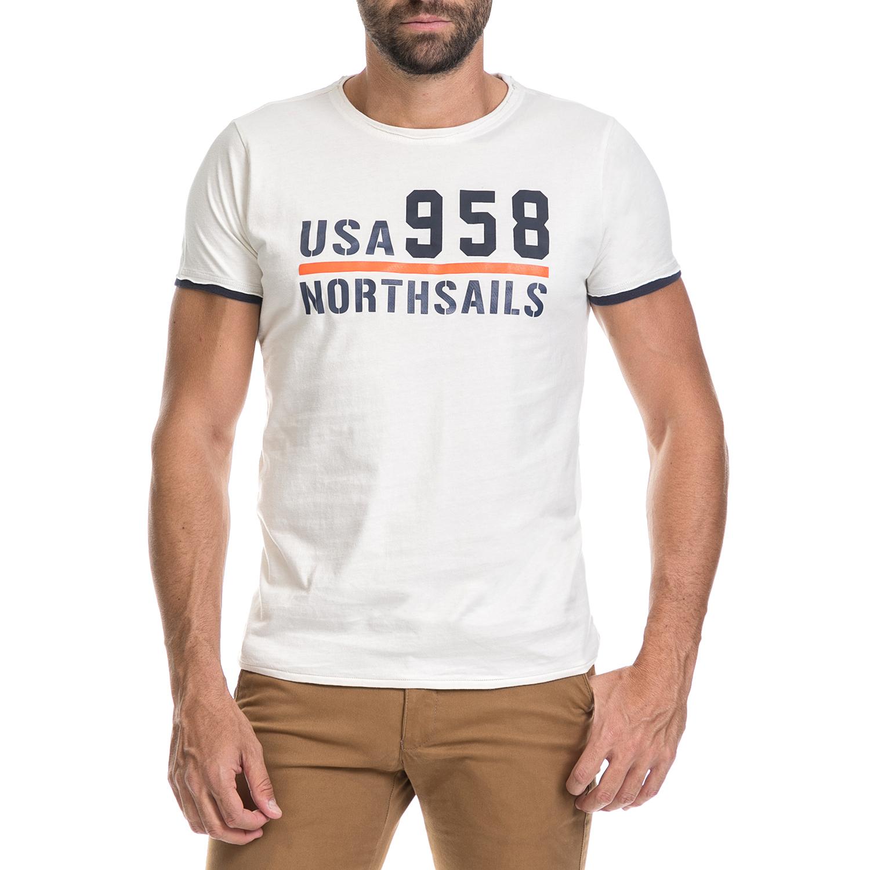 NORTH SAILS – Ανδρική μπλούζα NORTH SAILS λευκή
