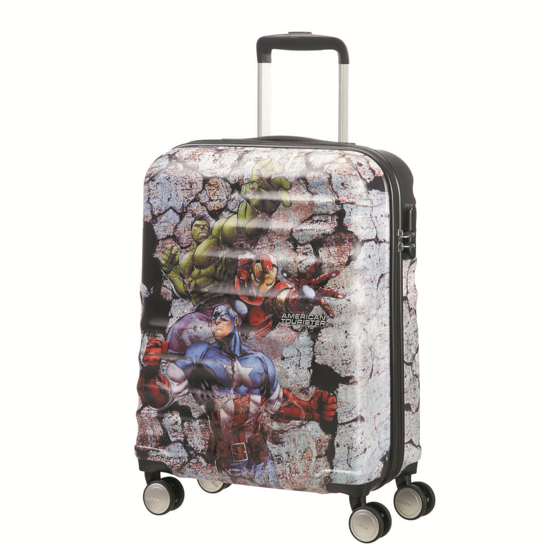AMERICAN TOURISTER – Παιδική βαλίτσα καμπίνας WAVEBREAKER DISNEY MARVEL 55/20 πολύχρωμη