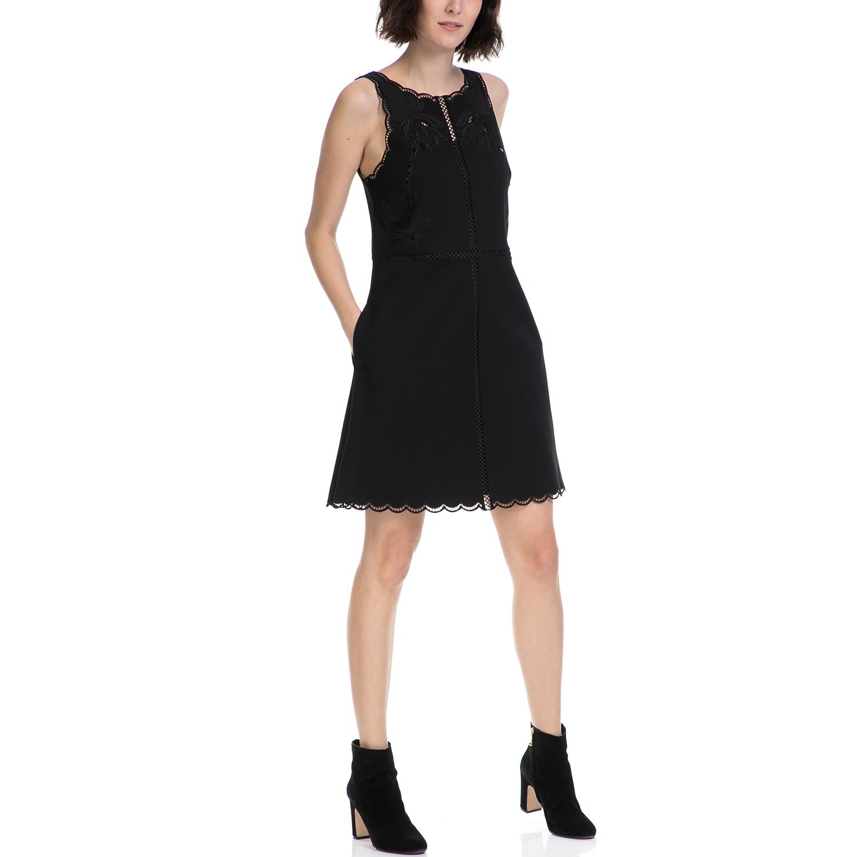 TED BAKER - Γυναικείο φόρεμα CODI TED BAKER μαύρο γυναικεία ρούχα φορέματα μίνι
