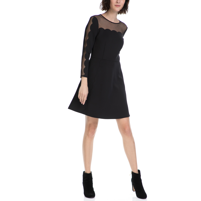 TED BAKER - Γυναικείο φόρεμα KIKOH TED BAKER μαύρο γυναικεία ρούχα φορέματα μίνι