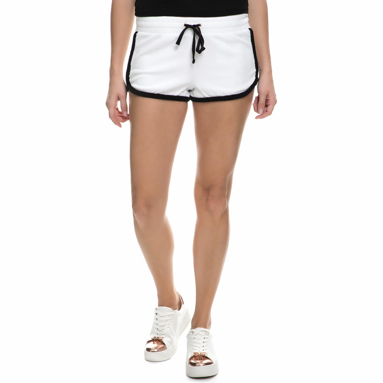 f7e91d9a71b4 JUICY COUTURE – Γυναικείο σορτς Juicy Couture MICROTERRY VENICE άσπρο –  μαύρο