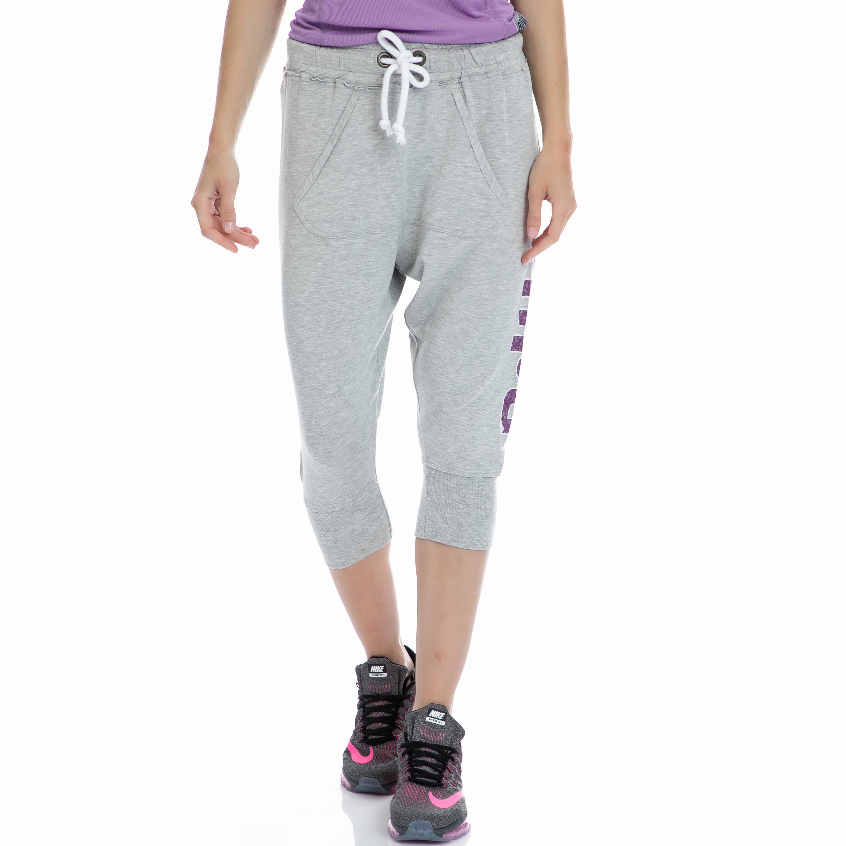 BODYTALK - Γυναικείο παντελόνι BODYTALK γκρι γυναικεία ρούχα αθλητικά φόρμες