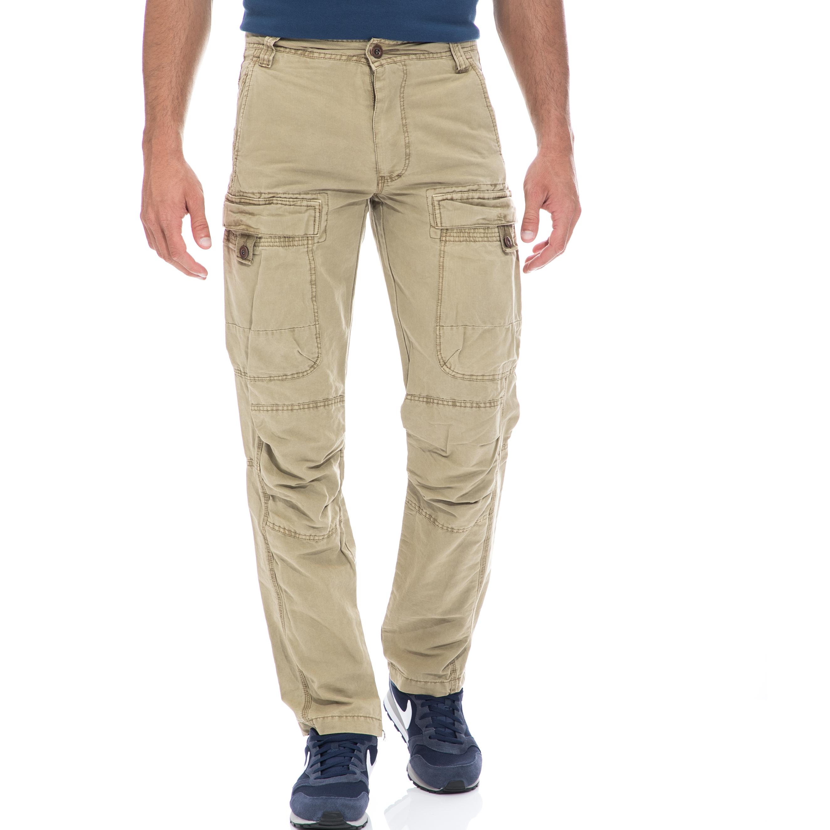 BATTERY – Ανδρικό παντελόνι Battery μπεζ