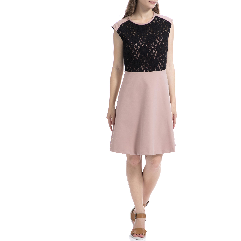 DENNY ROSE - Γυναικείο φόρεμα Denny Rose ροζ γυναικεία ρούχα φορέματα μίνι