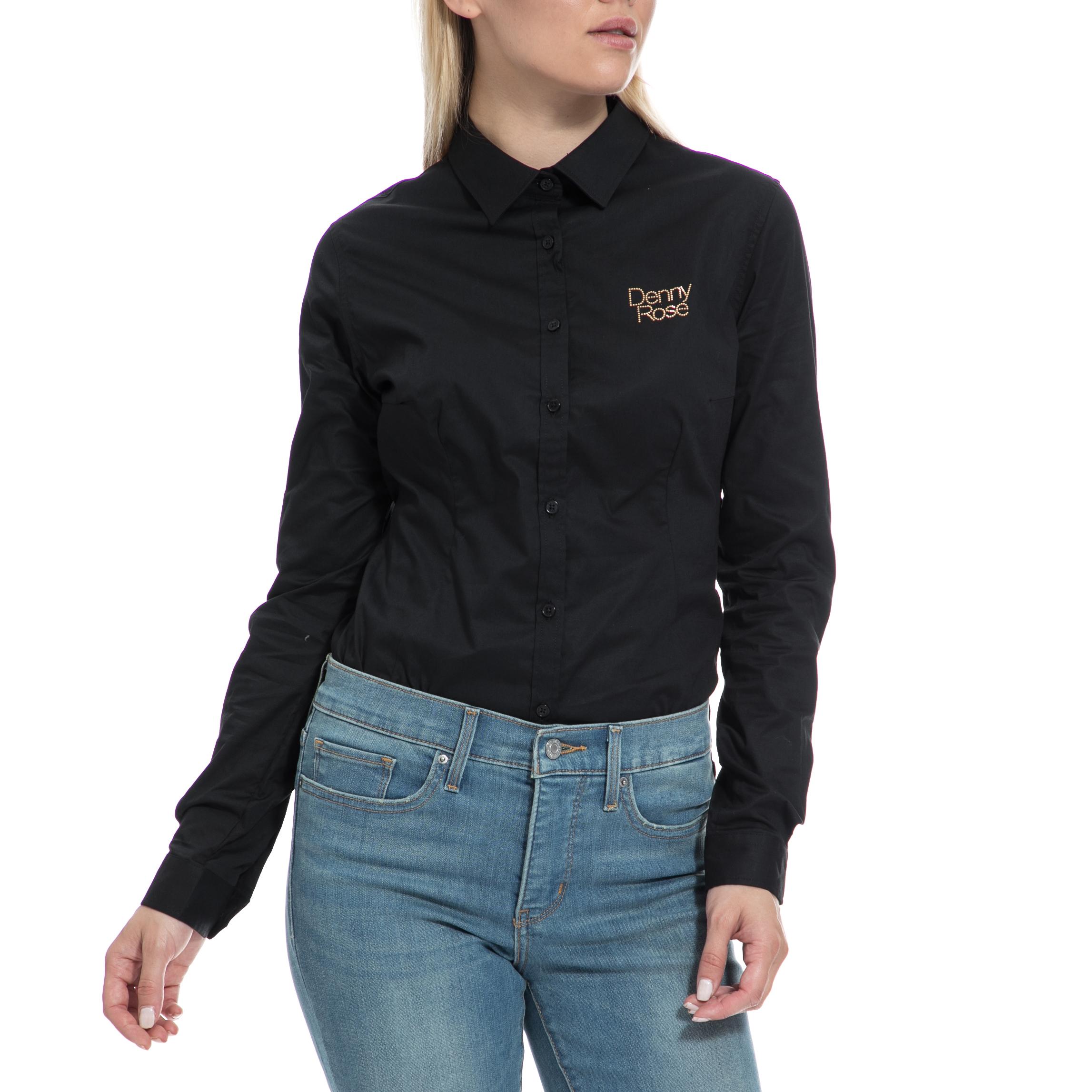 DENNY ROSE – Γυναικείο πουκάμισο-κορμάκι DENNY ROSE μαύρο