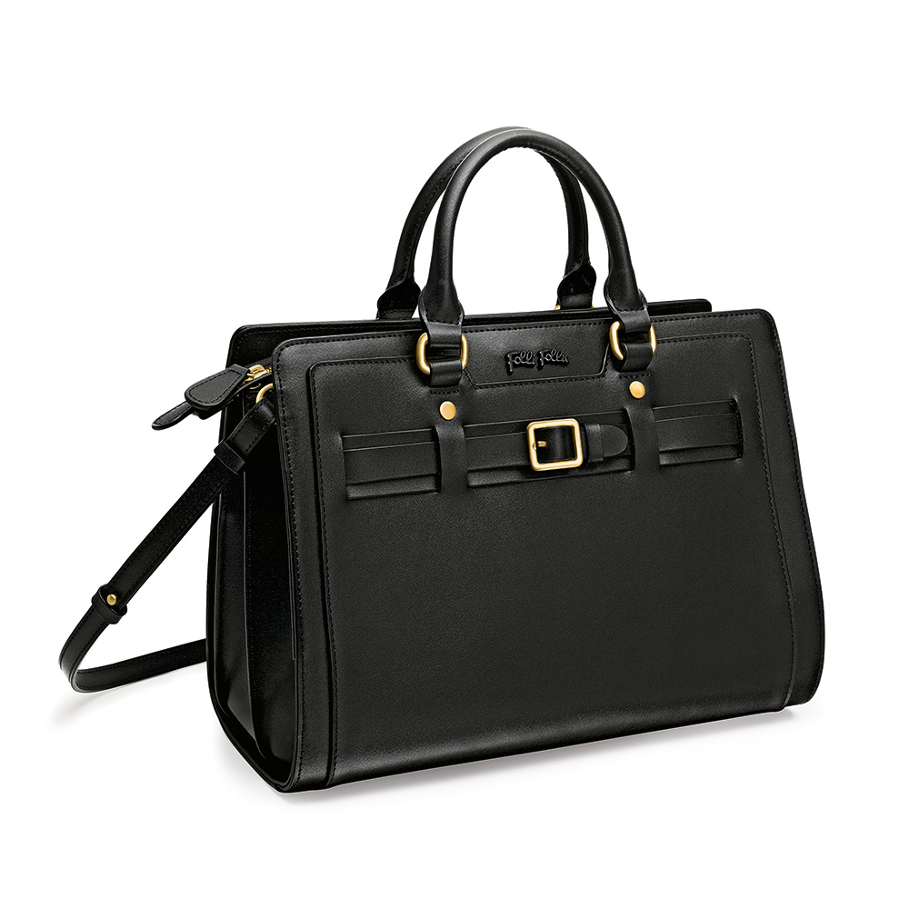 FOLLI FOLLIE – Γυναικεία τσάντα χειρός FOLLI FOLLIE μαύρη 1598280.0-0000