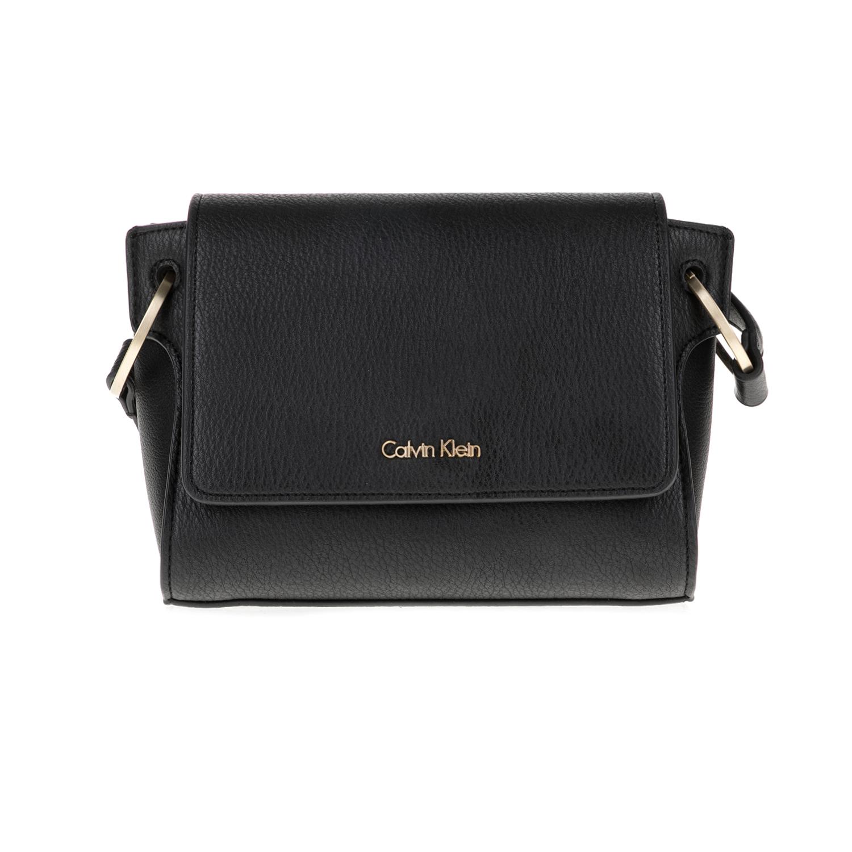 CALVIN KLEIN JEANS – Γυναικεία τσάντα IREN3 FLAP CROSSBODY μαύρη 1598684.0-0073