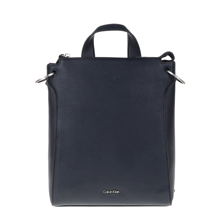 CALVIN KLEIN JEANS – Γυναικεία τσάντα πλάτης ICONIC BACKPACK LEA μπλε 1598704.0-0010