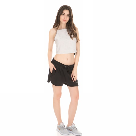 NIKE-Γυναικείο crop top NIKE PWR TANK STUDIO μπεζ