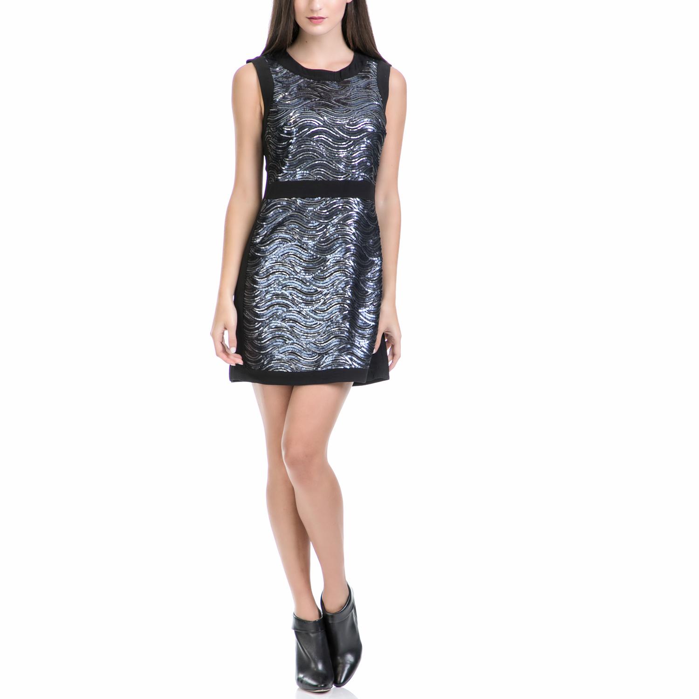 JUICY COUTURE - Γυναικείο φόρεμα WAVY SEQUIN SHIFT μπλε γυναικεία ρούχα φορέματα μίνι