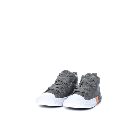 CONVERSE-Βρεφικά μποτάκια Chuck Taylor All Star Street γκρι
