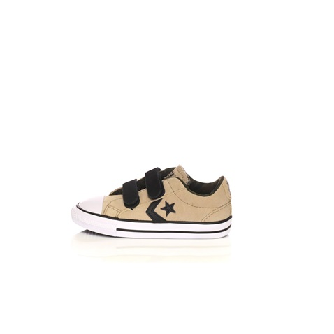 CONVERSE-Βρεφικά sneakers Converse Star Player Ox μπεζ-μαύρα