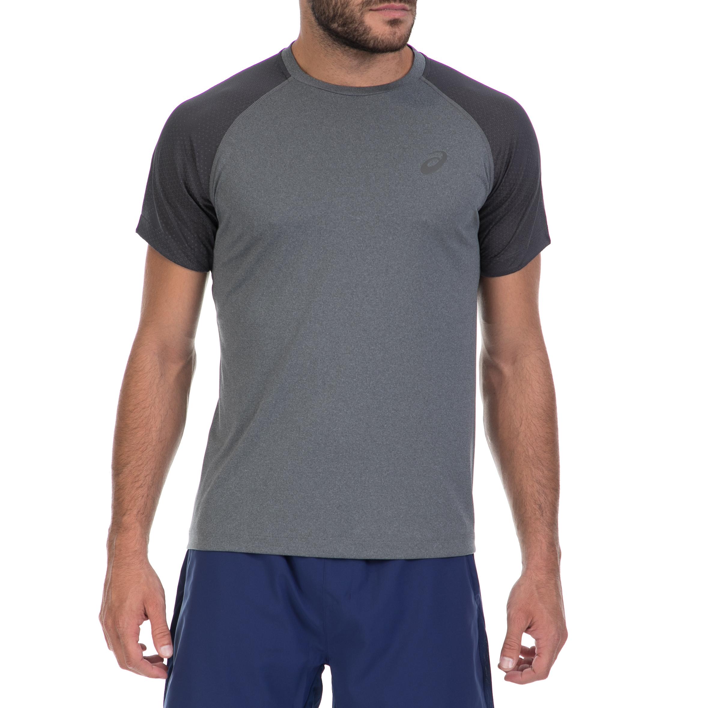 ASICS (FO) - Αντρική μπλούζα ASICS γκρι ανδρικά ρούχα αθλητικά t shirt