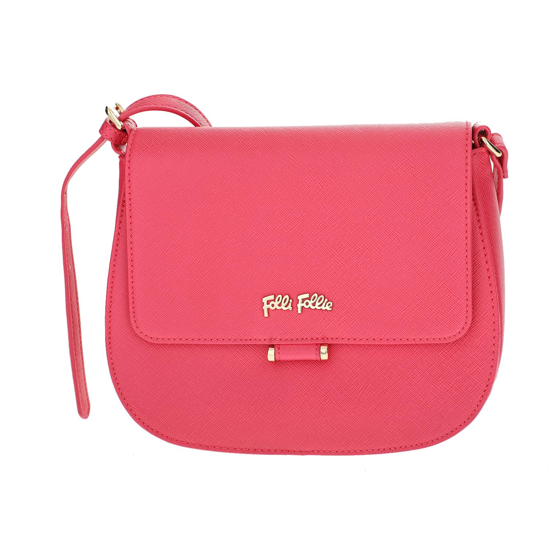 FOLLI FOLLIE – Γυναικεία μικρή τσάντα χιαστί με καπάκι Folli Follie φούξια 1610536.0-0000