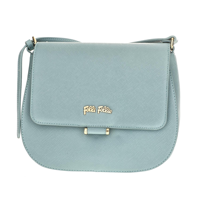FOLLI FOLLIE – Γυναικεία μικρή τσάντα χιαστί με καπάκι Folli Follie γαλάζια 1610539.0-0000